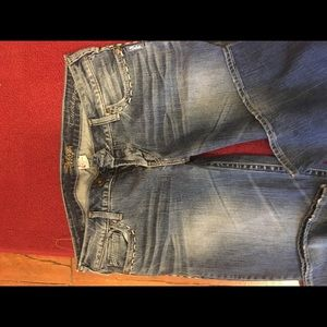 Woman's low rise boot cut jeans